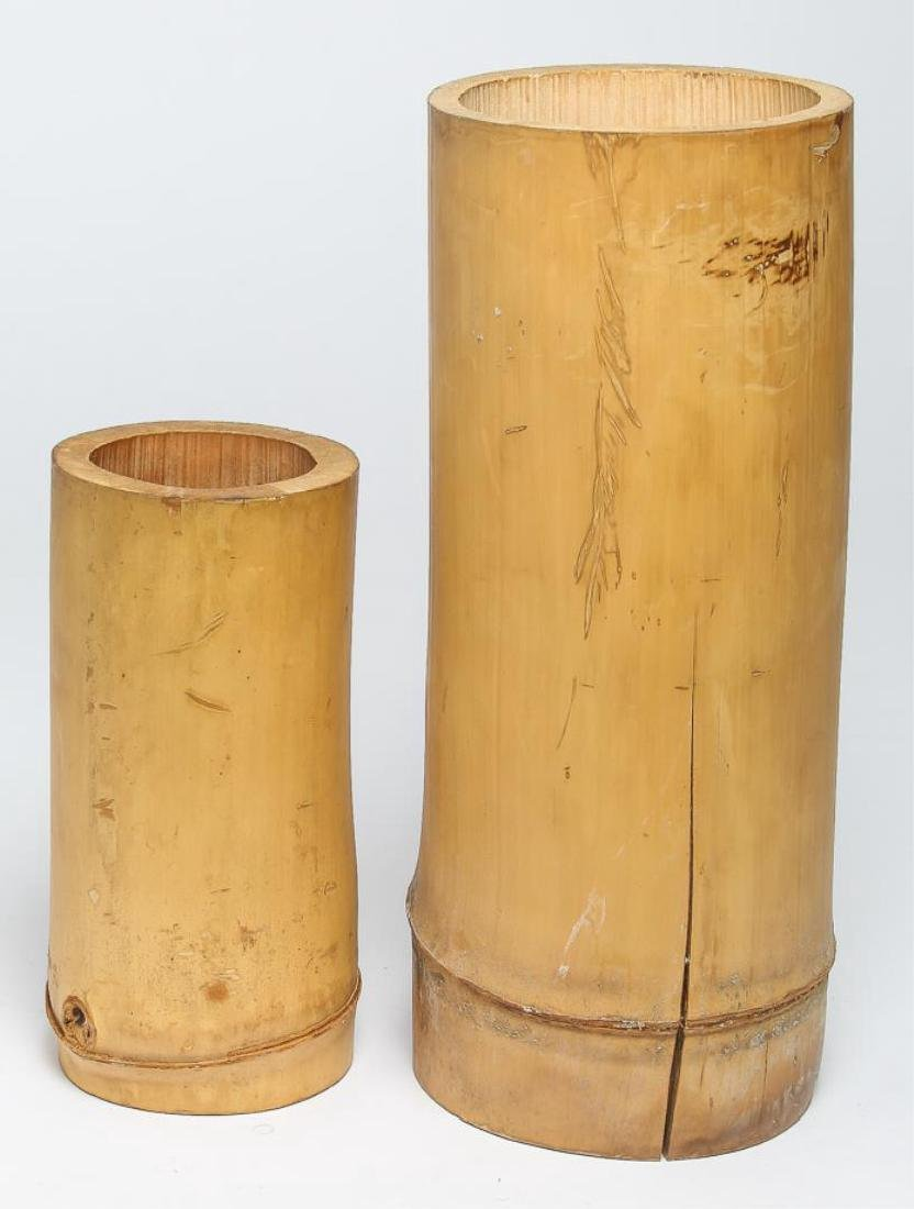 Asian Bamboo Brushpots, 2 Chinese or Japanese