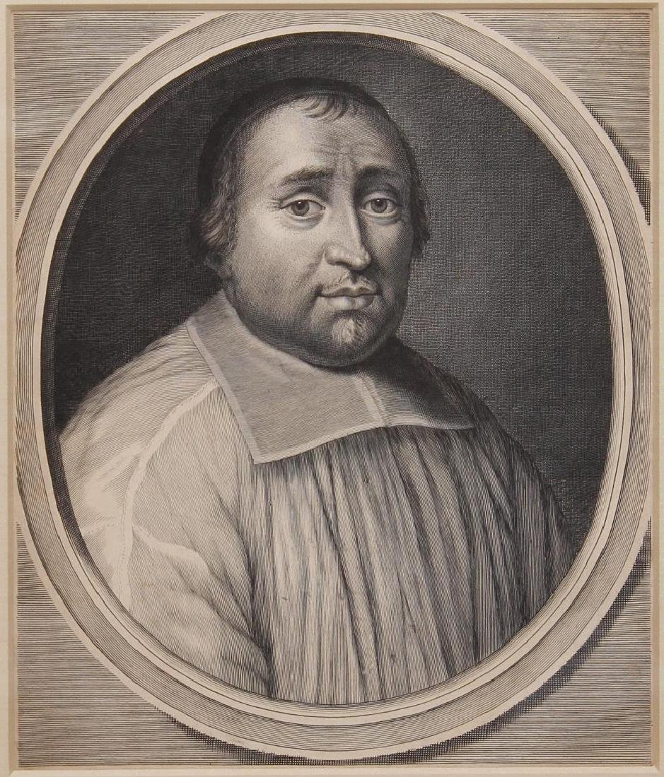 Portrait Engraving of Catholic Cardinal, Unsigned