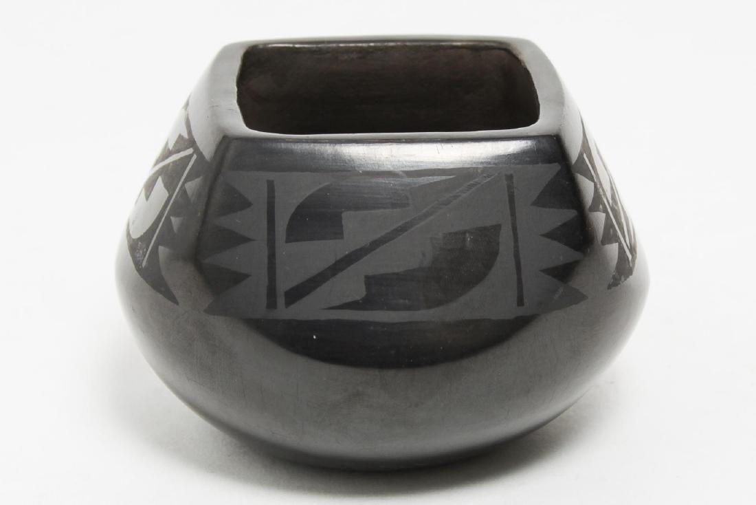 Florence Naranjo San Ildefonso Black Pottery Jar