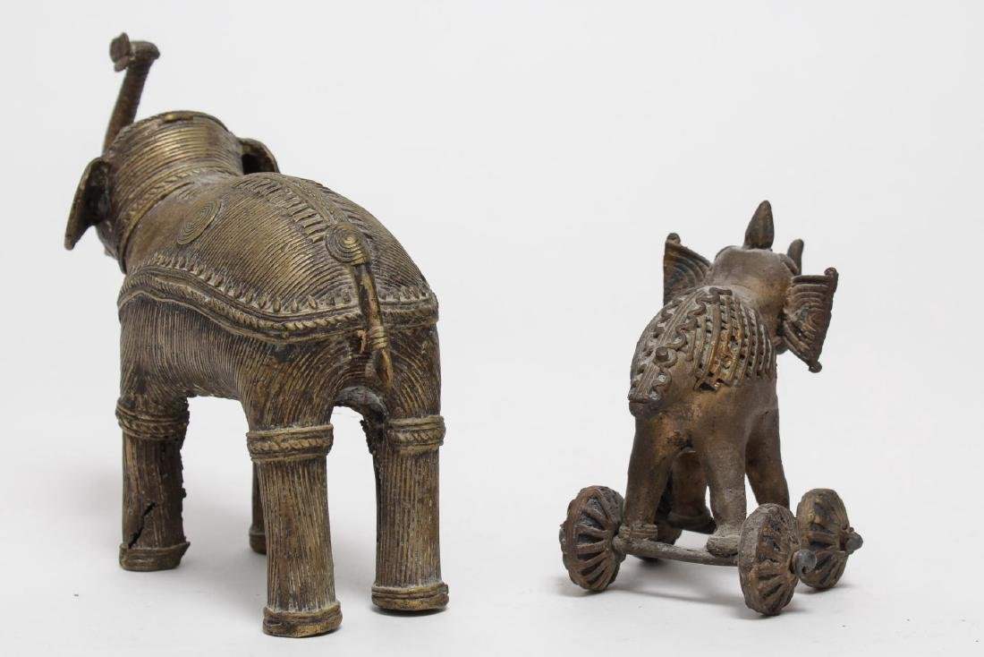 African Brass Elephant Figurines, Burkina Faso - 3