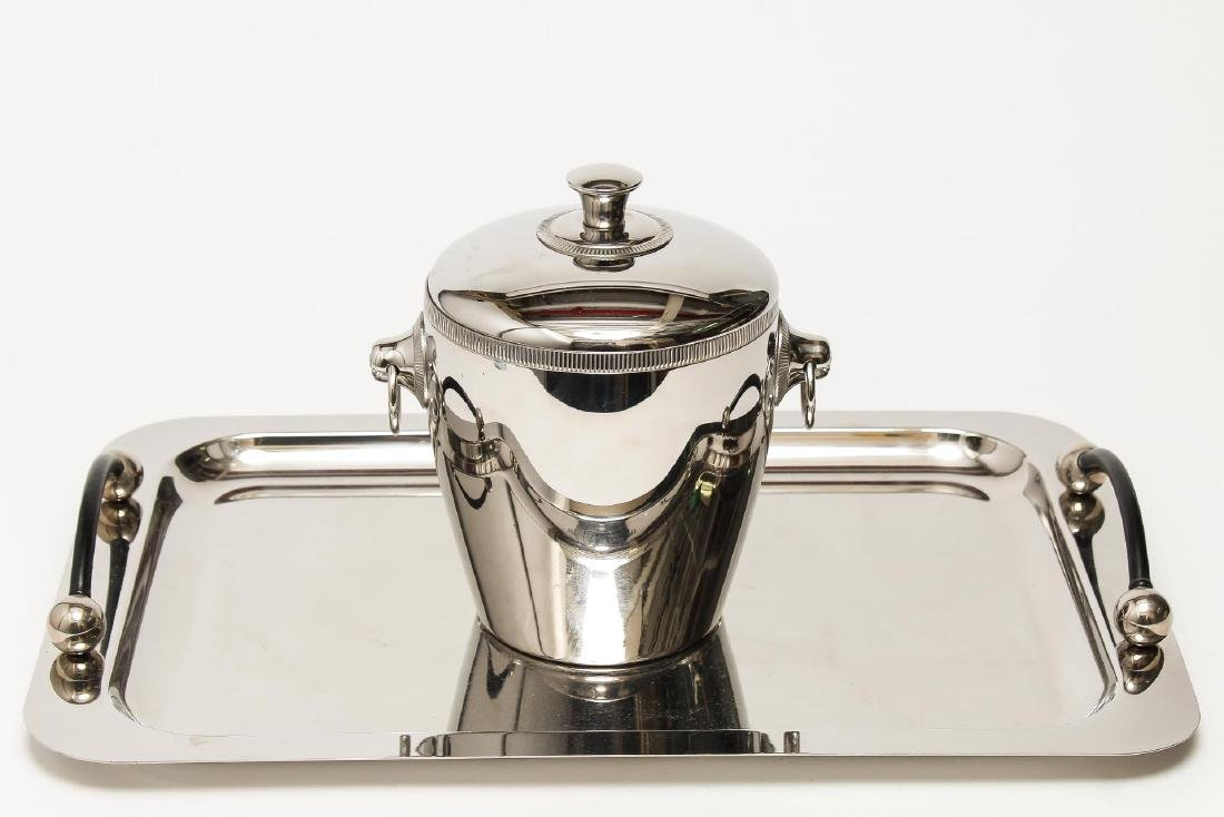 Stainless Steel Ice Bucket & Tray, incl. Waterford - 2