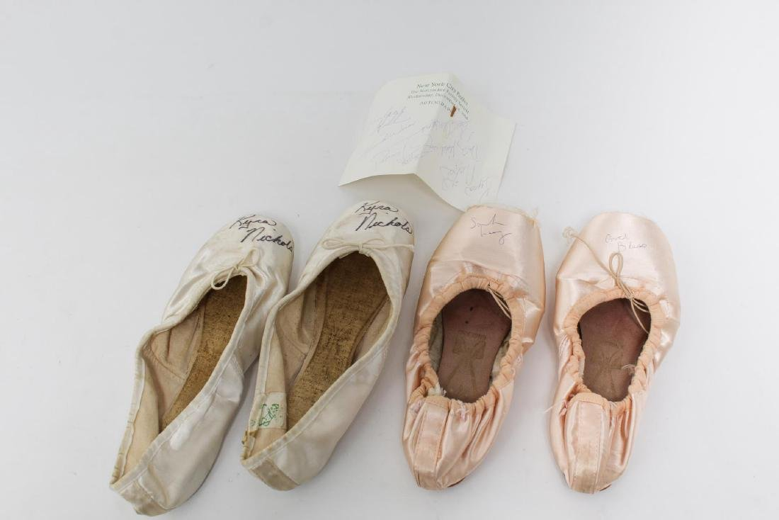 NY City Ballet Autographed Toe Shoes, 2 Pair