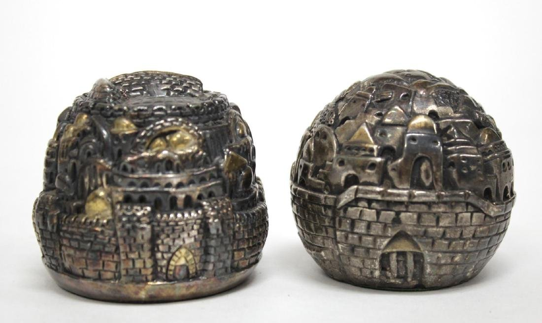 "Israeli Silver-Clad ""Rose of Jerusalem"" Desk Items"