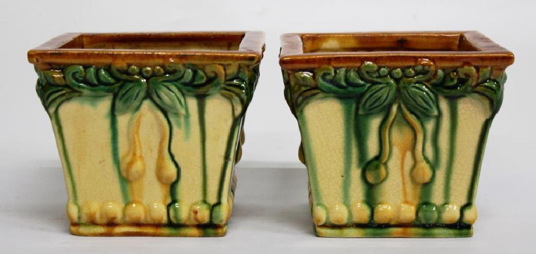 American Art Pottery Plant Pots, Small Pair