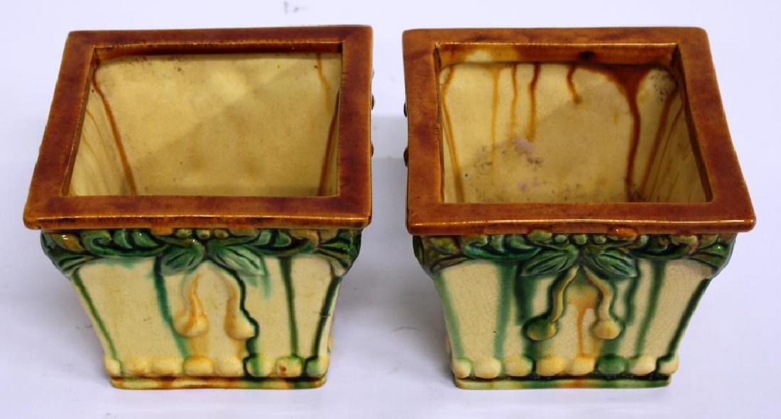 American Art Pottery Plant Pots, Small Pair - 2