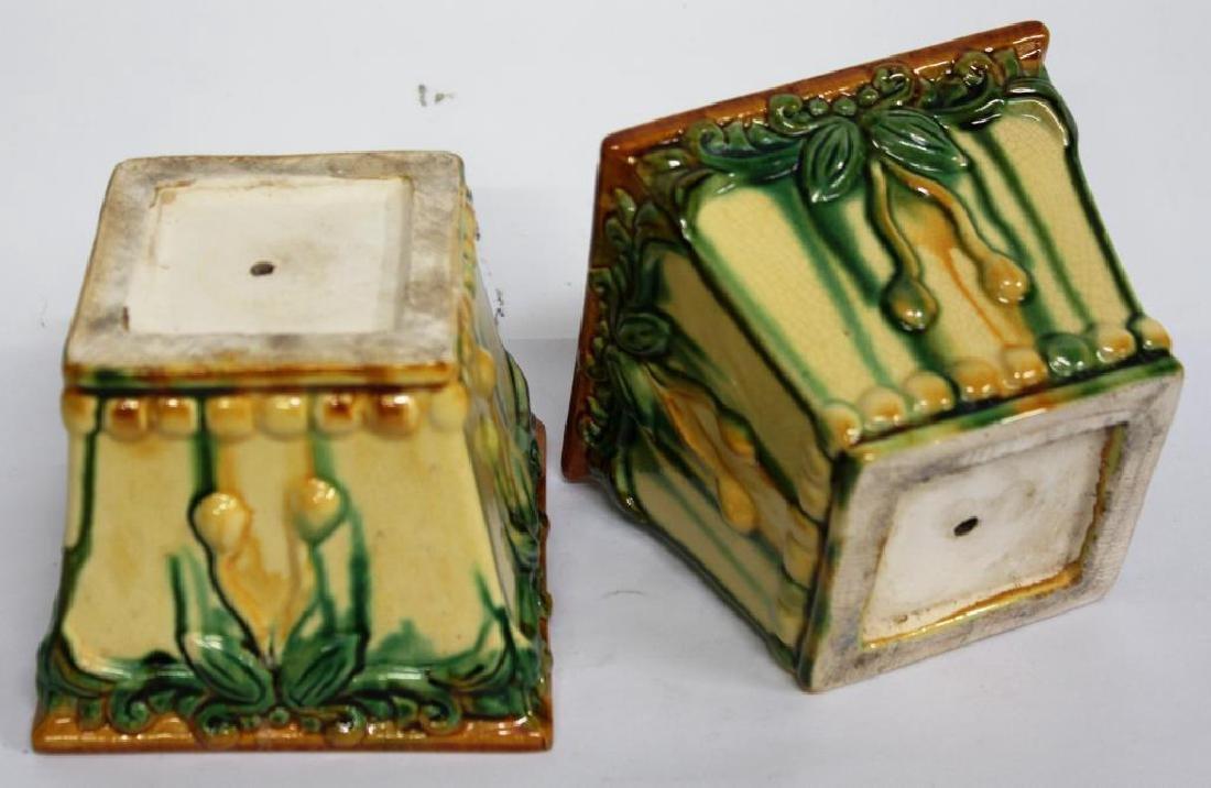 American Art Pottery Plant Pots, Small Pair - 3