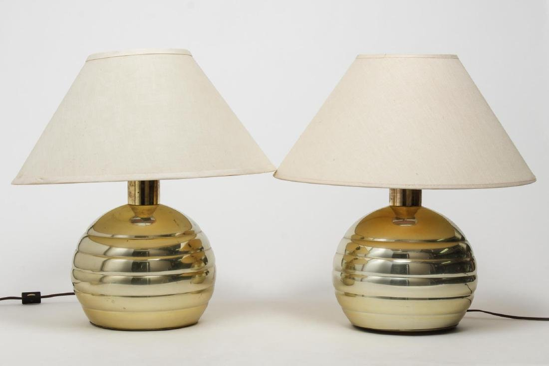 Mid-Century Modern Brass Table Lamps
