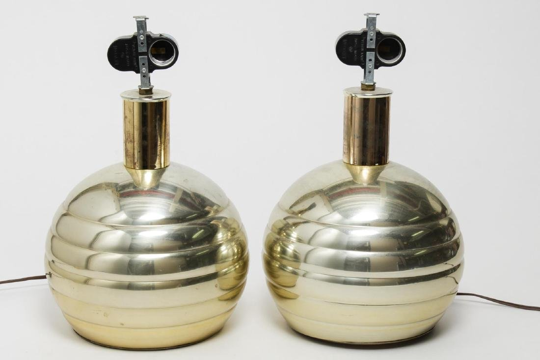 Mid-Century Modern Brass Table Lamps - 2