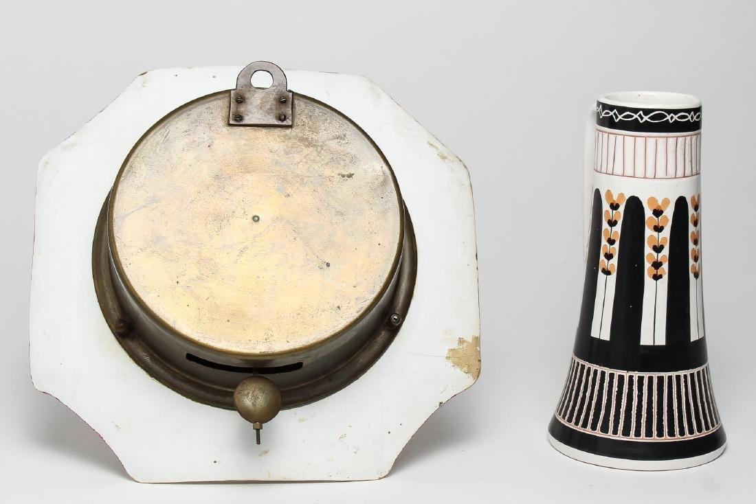 German Porcelain Clock & Norwegian Stein, Vintage - 2