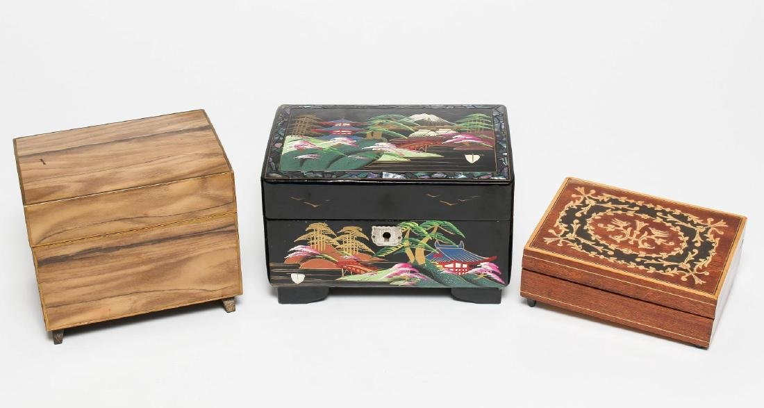 Vintage Music Boxes- inc. Japanese w/Ballerinas, 3