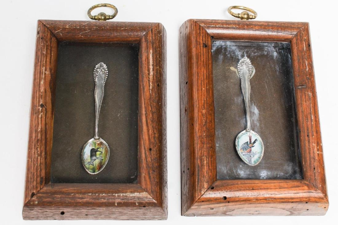 Sterling Silver Spoons with Animaliere Enameling