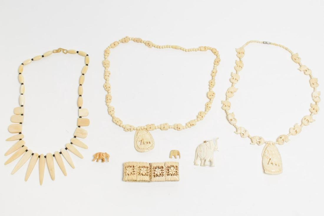 Vintage Indian Carved Bone Jewelry, Collection