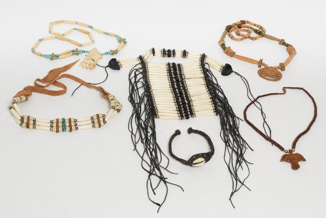Native American & Tribal Bone Bead & Shell Jewelry