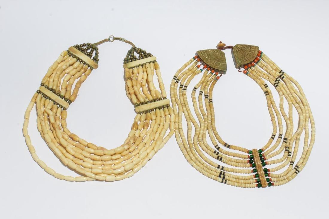 Tribal Bone Beaded Necklaces, 2
