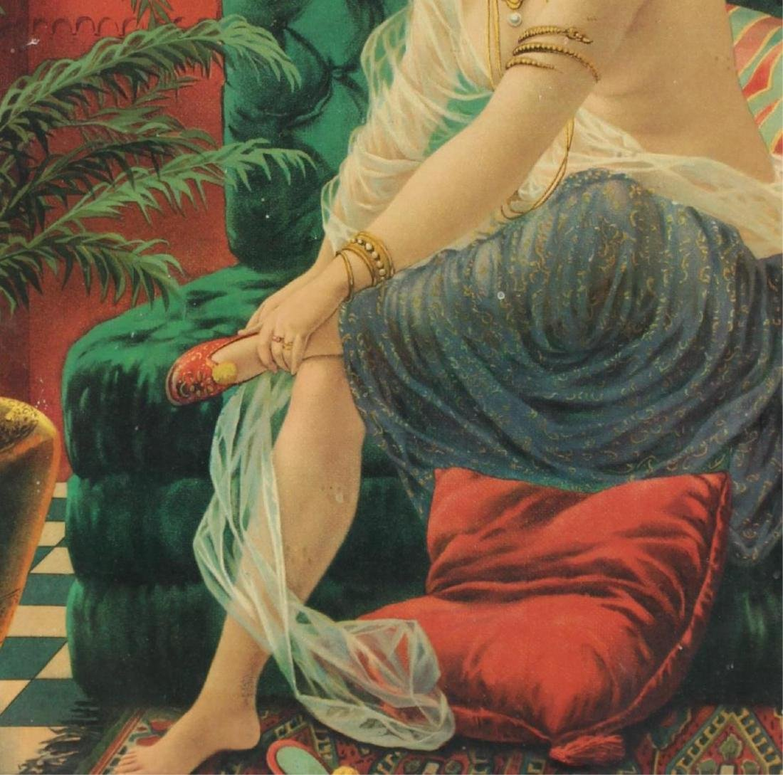 Orientalist Chromolithograph Print of a Harem Girl - 3