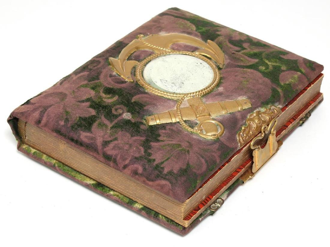 Victorian Mirrored Photo Album, Velvet & Celluloid