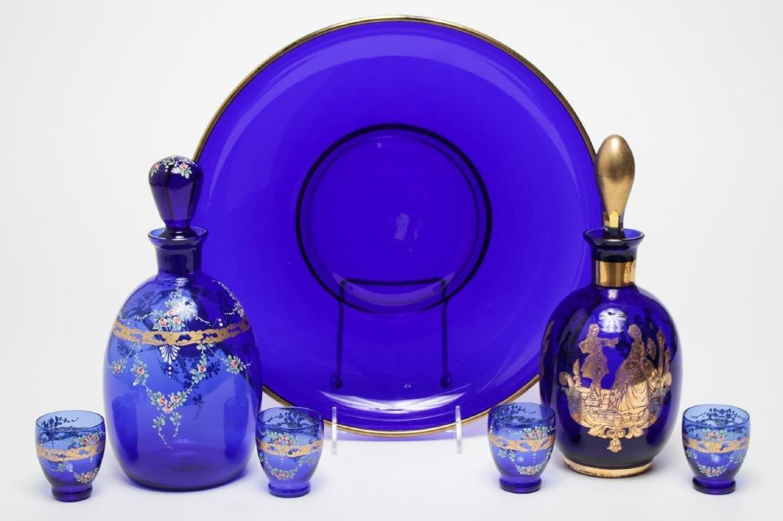 Cobalt Blue Glass Ware, Continental, inc. Bohemian