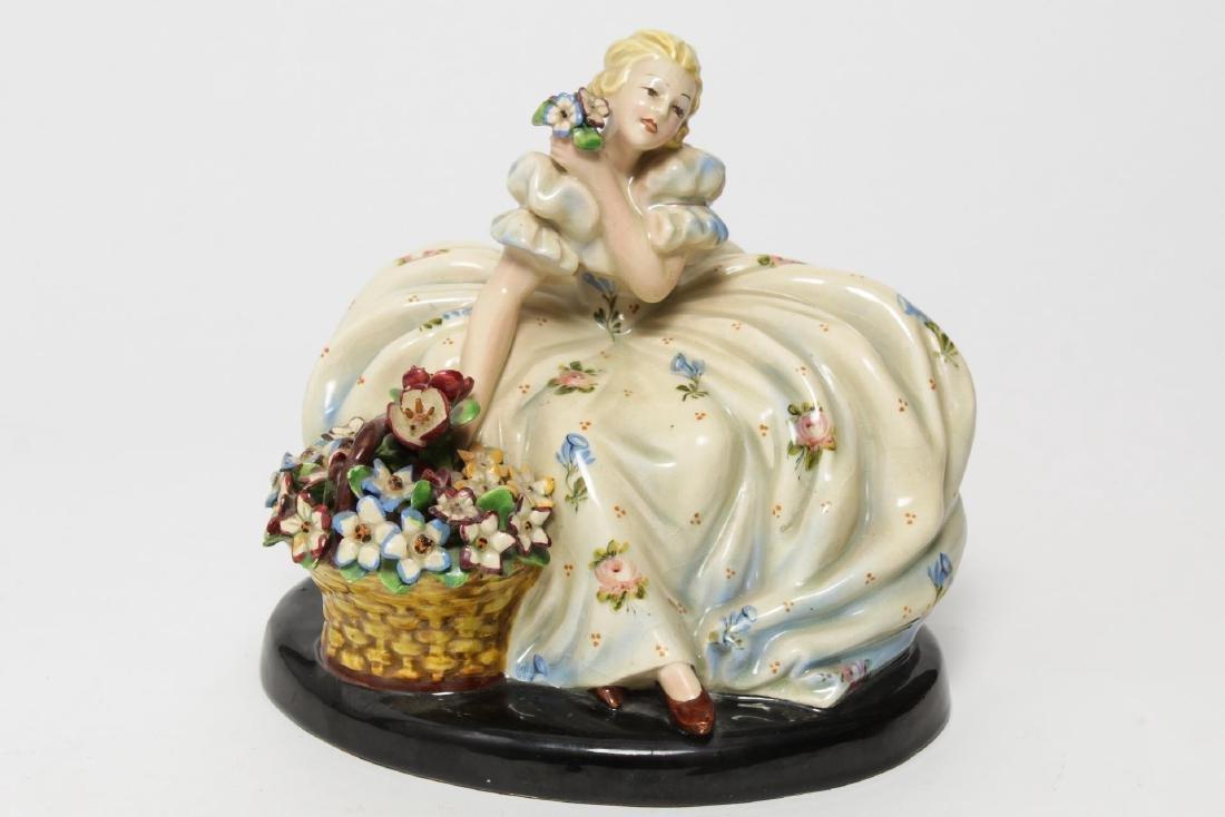 Italian Sebellin Pottery Figurine, Vintage