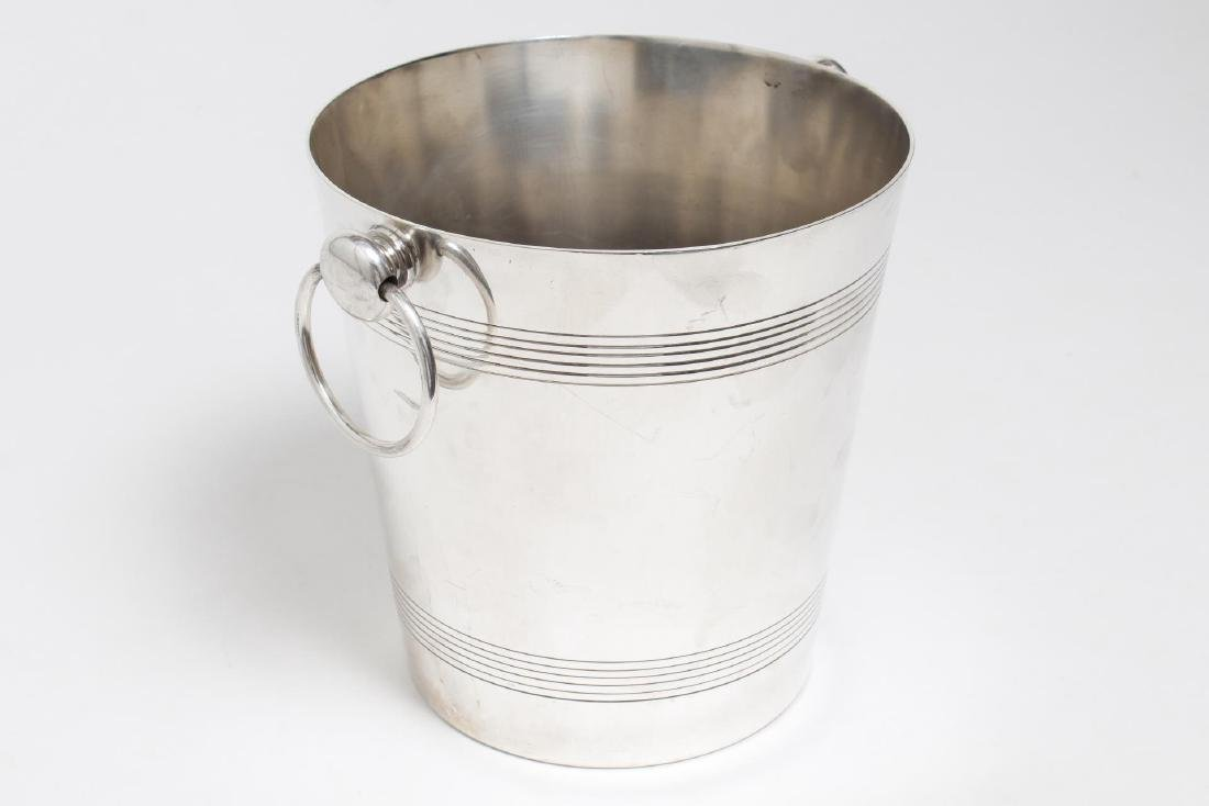 Camille Longuet French Art Deco Silverplate Bucket - 2