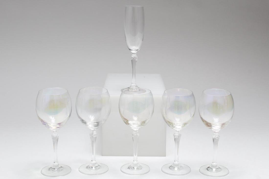 Iridescent Luster Bar Glasses, Group of 6