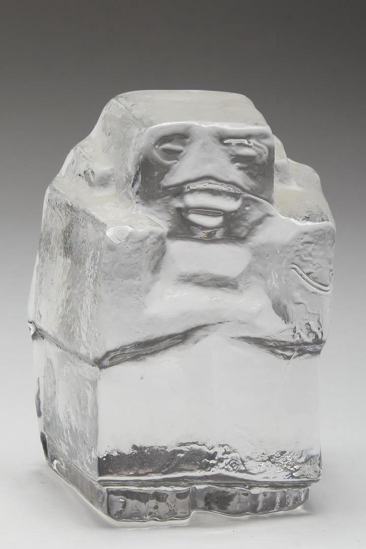 """Erik Hoglund for Kosta Boda- """"Ice Man"""" Sculpture"""
