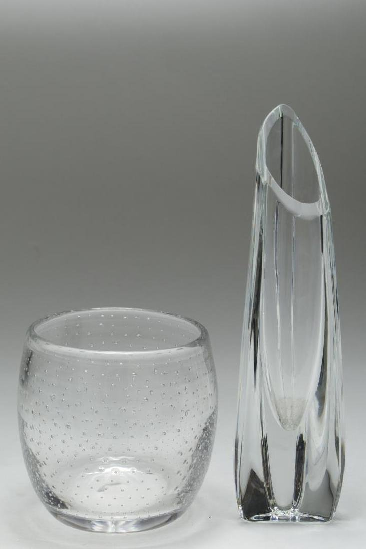 Baccarat Crystal Rose Bud Vase & Bubble Glass Vase