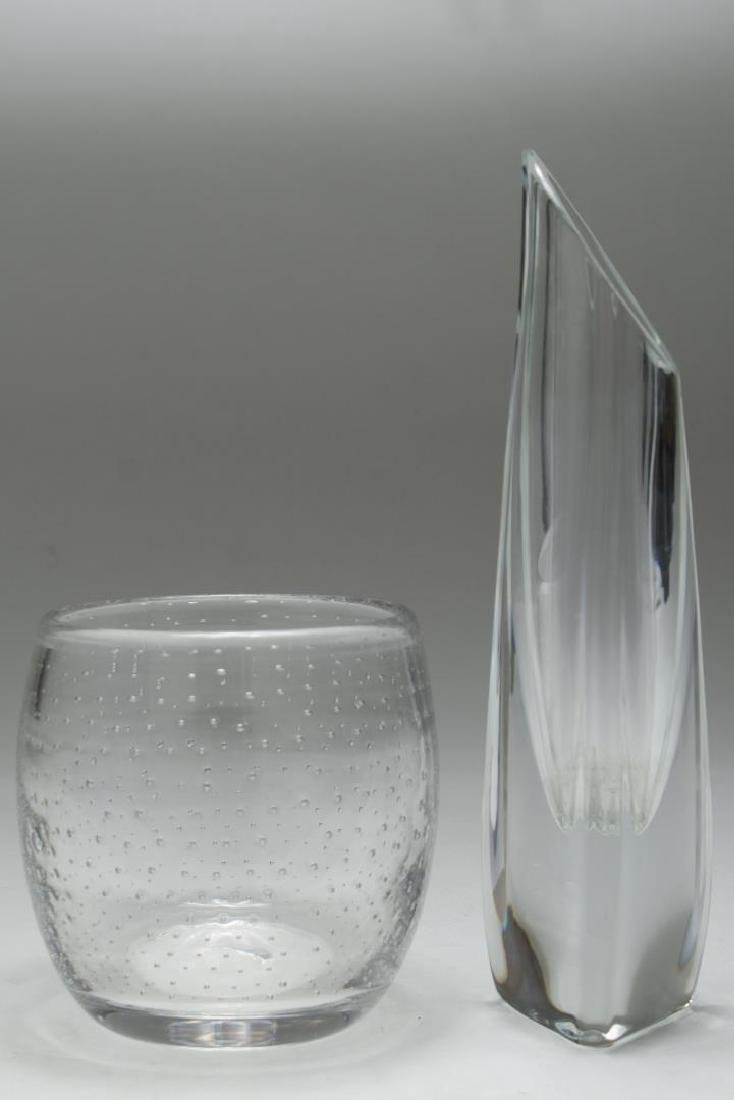 Baccarat Crystal Rose Bud Vase & Bubble Glass Vase - 2