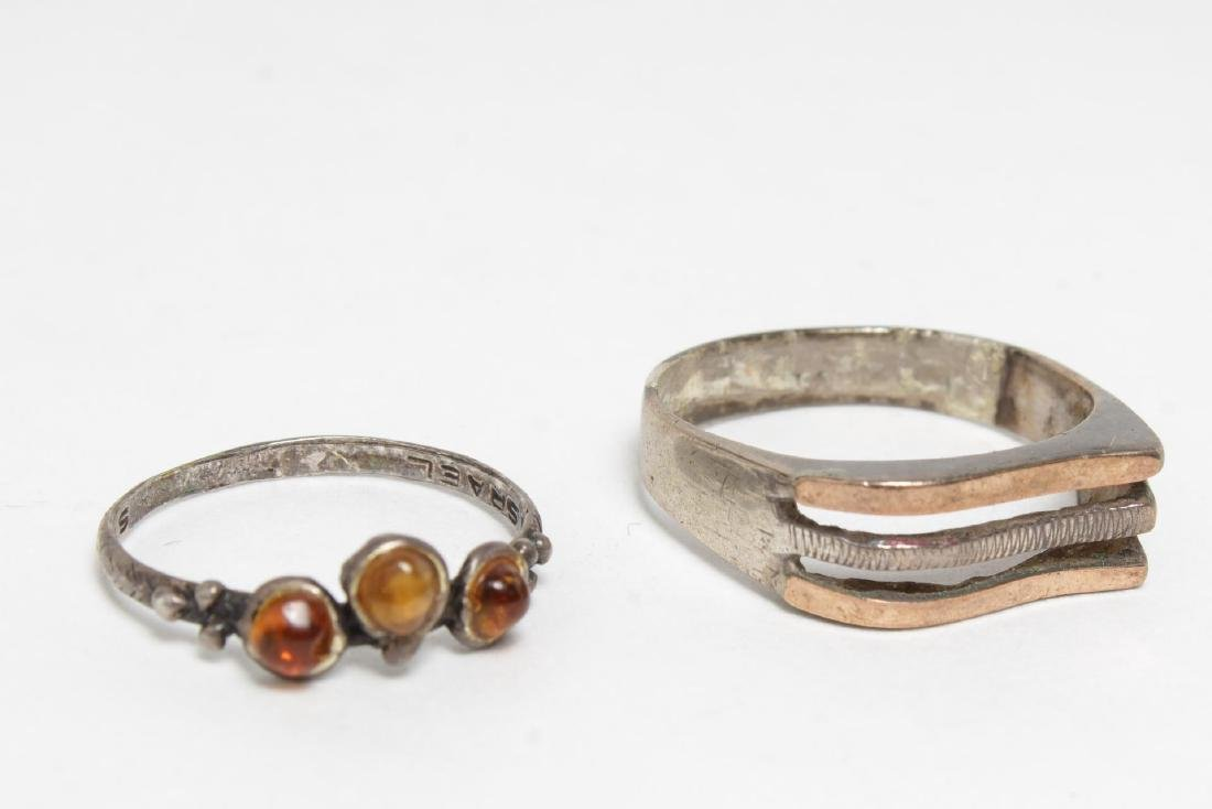 Modernist Silver Rings, 10 Woman's & Child's - 2