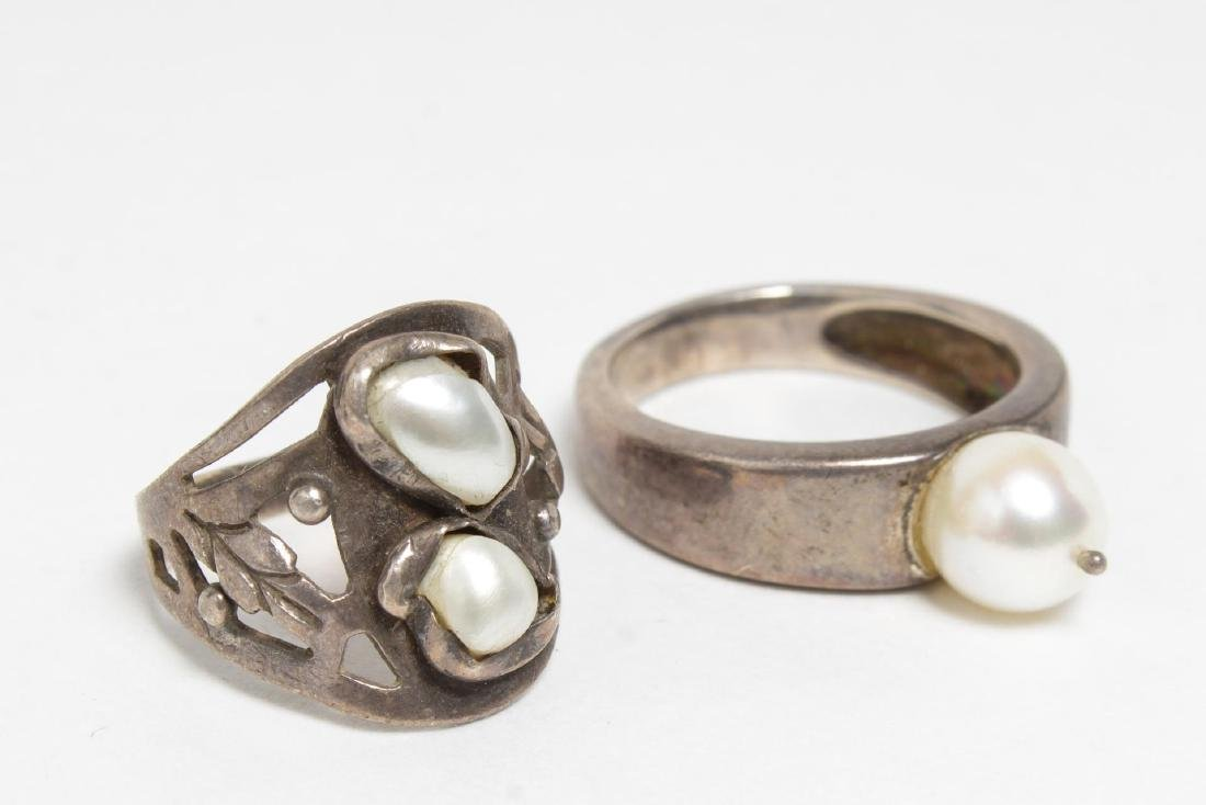 Modernist Silver Rings, 10 Woman's & Child's - 4