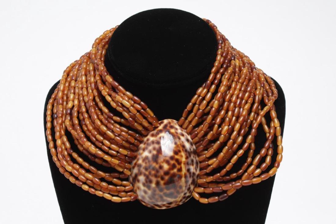 Shell, Bead, Pearl & Metal Costume Jewelry, 11 Pcs - 2