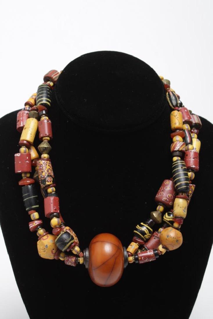 Shell, Bead, Pearl & Metal Costume Jewelry, 11 Pcs - 3