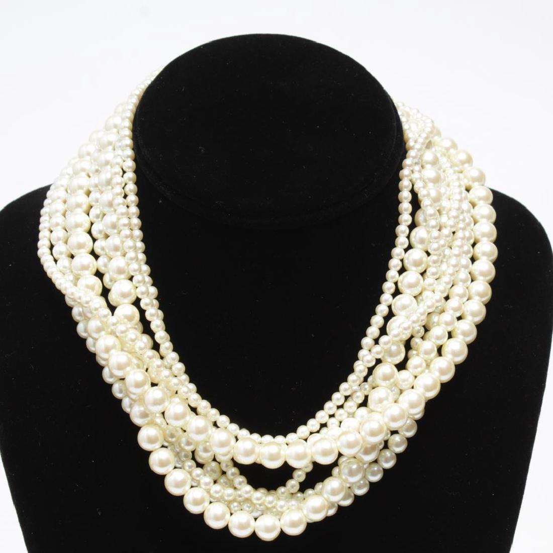 Shell, Bead, Pearl & Metal Costume Jewelry, 11 Pcs - 4