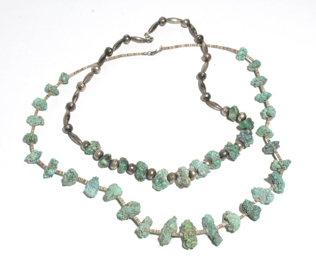 Navajo Turquoise & Silver or Bead Necklaces, 2