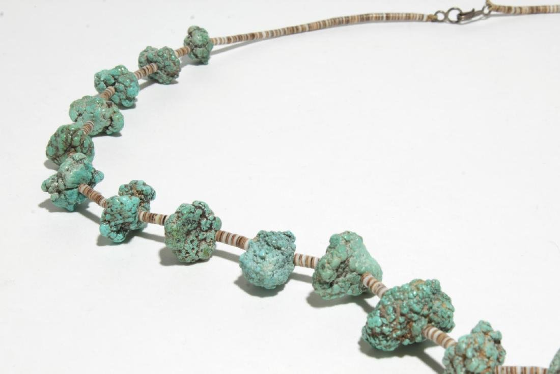 Navajo Turquoise & Silver or Bead Necklaces, 2 - 3
