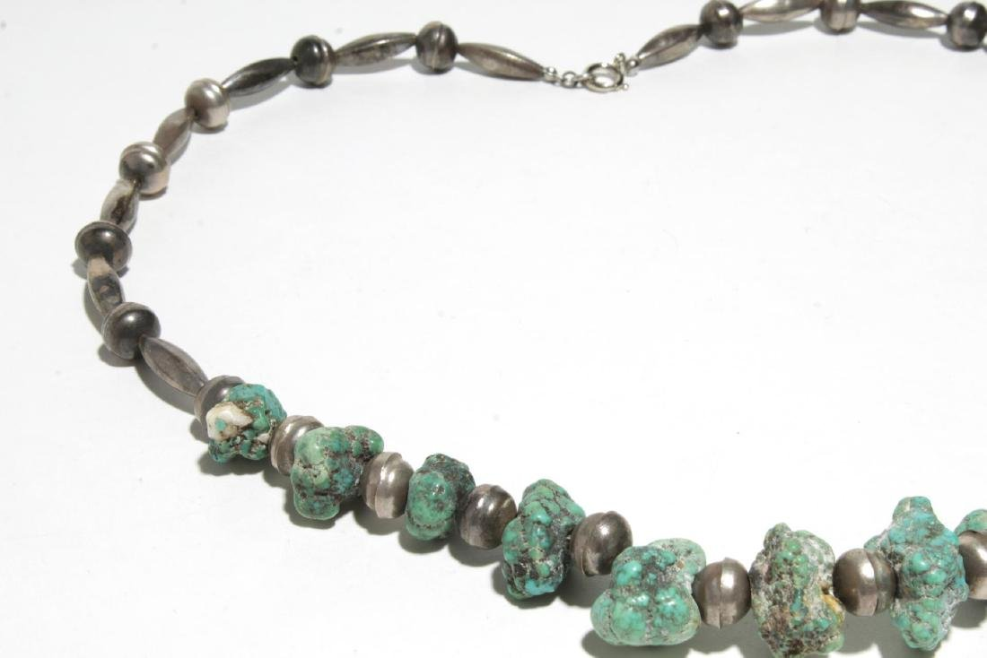 Navajo Turquoise & Silver or Bead Necklaces, 2 - 7