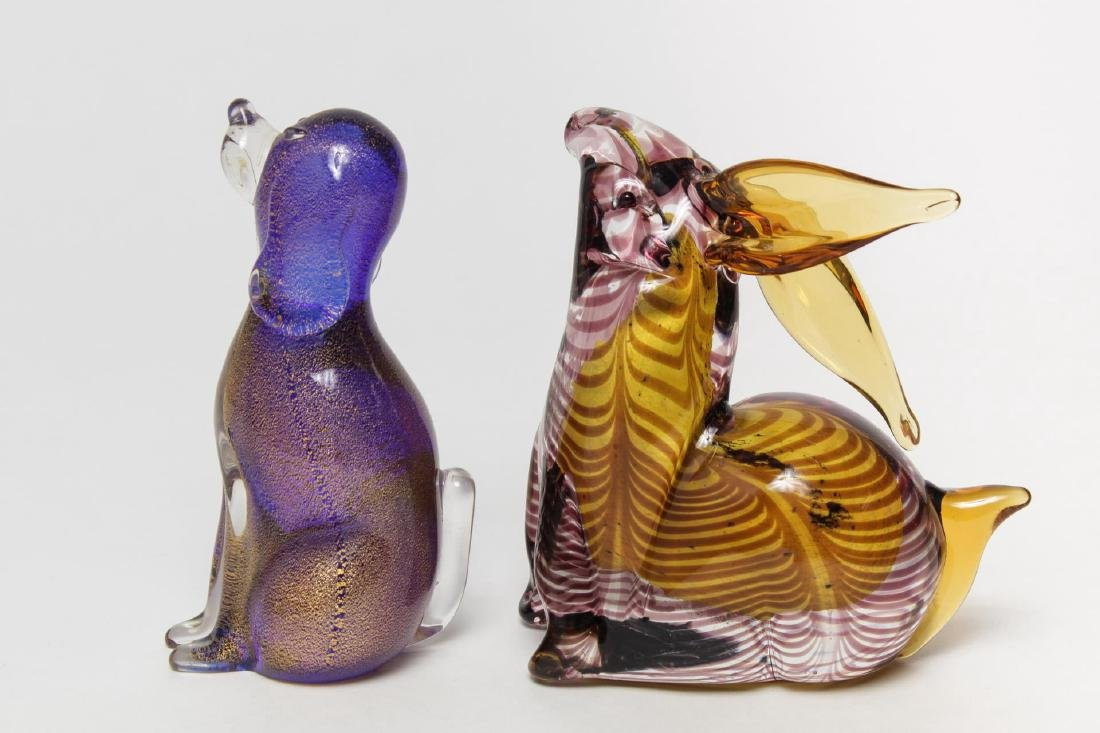 Italian Murano Glass Animal Figures, 2 Vintage - 3