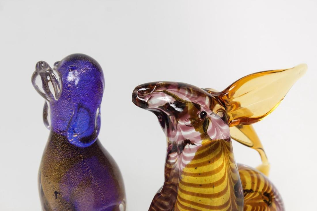 Italian Murano Glass Animal Figures, 2 Vintage - 4