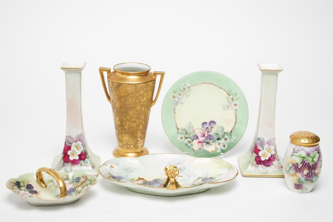 Continental Porcelain Items, Vintage Hand-Painted
