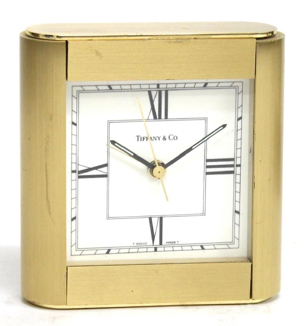 Vintage Tiffany Brass Desk Clock