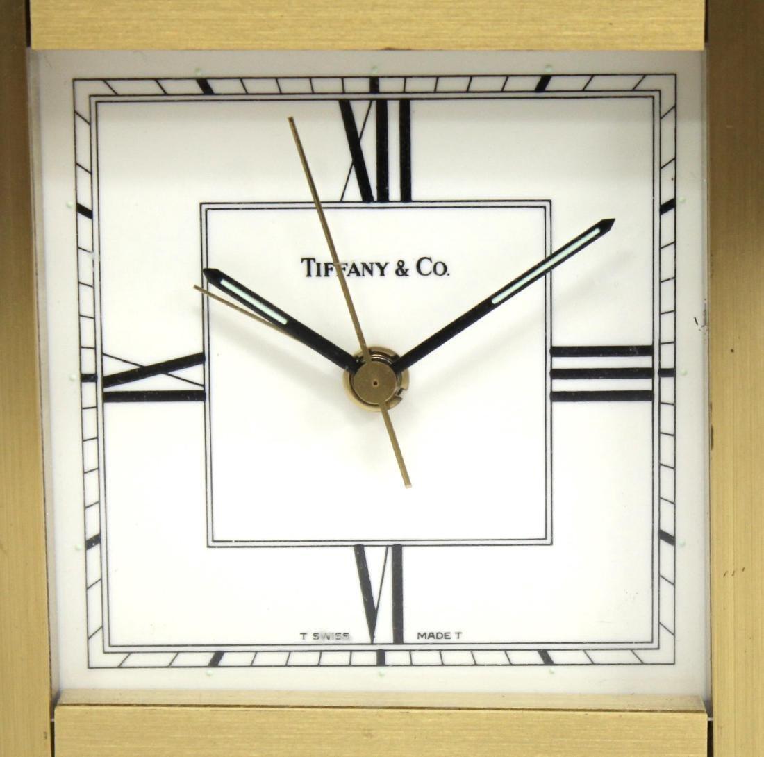 Vintage Tiffany Brass Desk Clock - 2