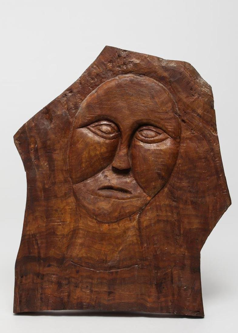 Mid-Century Carved Woodcraft Relief Panel
