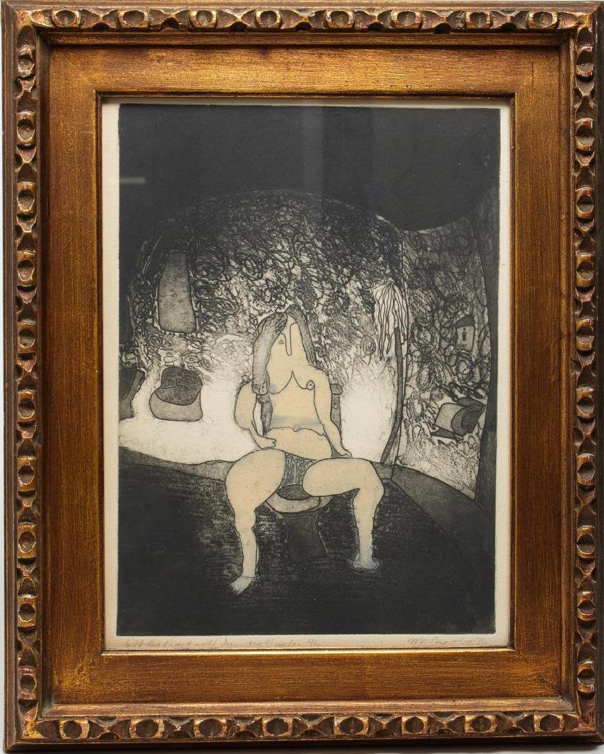 Signed M.C. Jacobs- Expressionist Etching