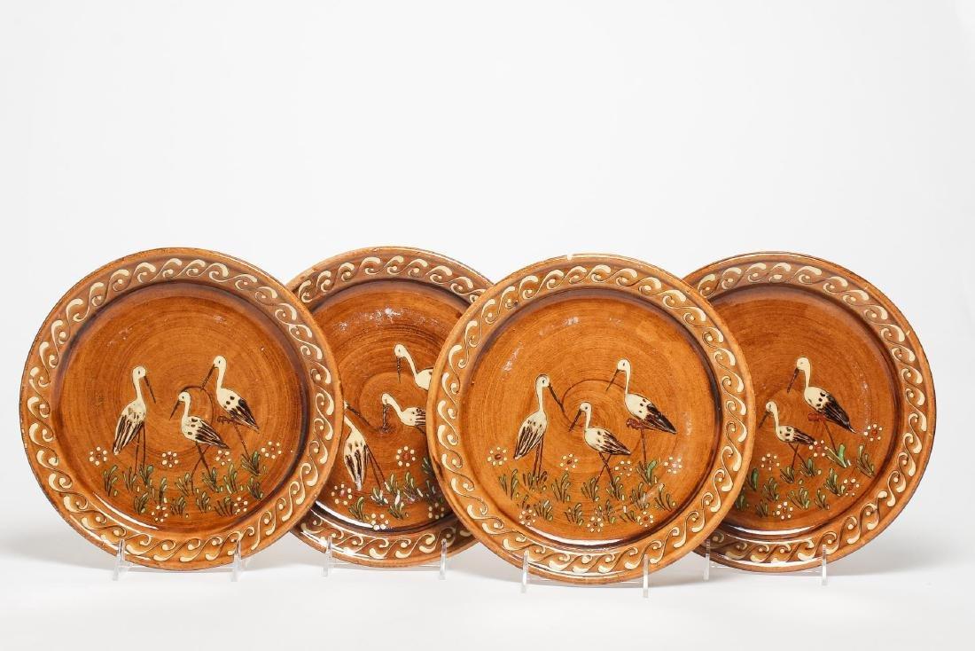 Earthenware & Enamel Plates or Wall Plaques, 4