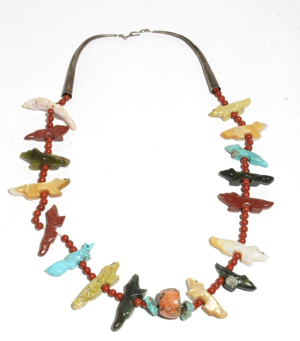 American Indian Spirit Animals Heishi Necklace