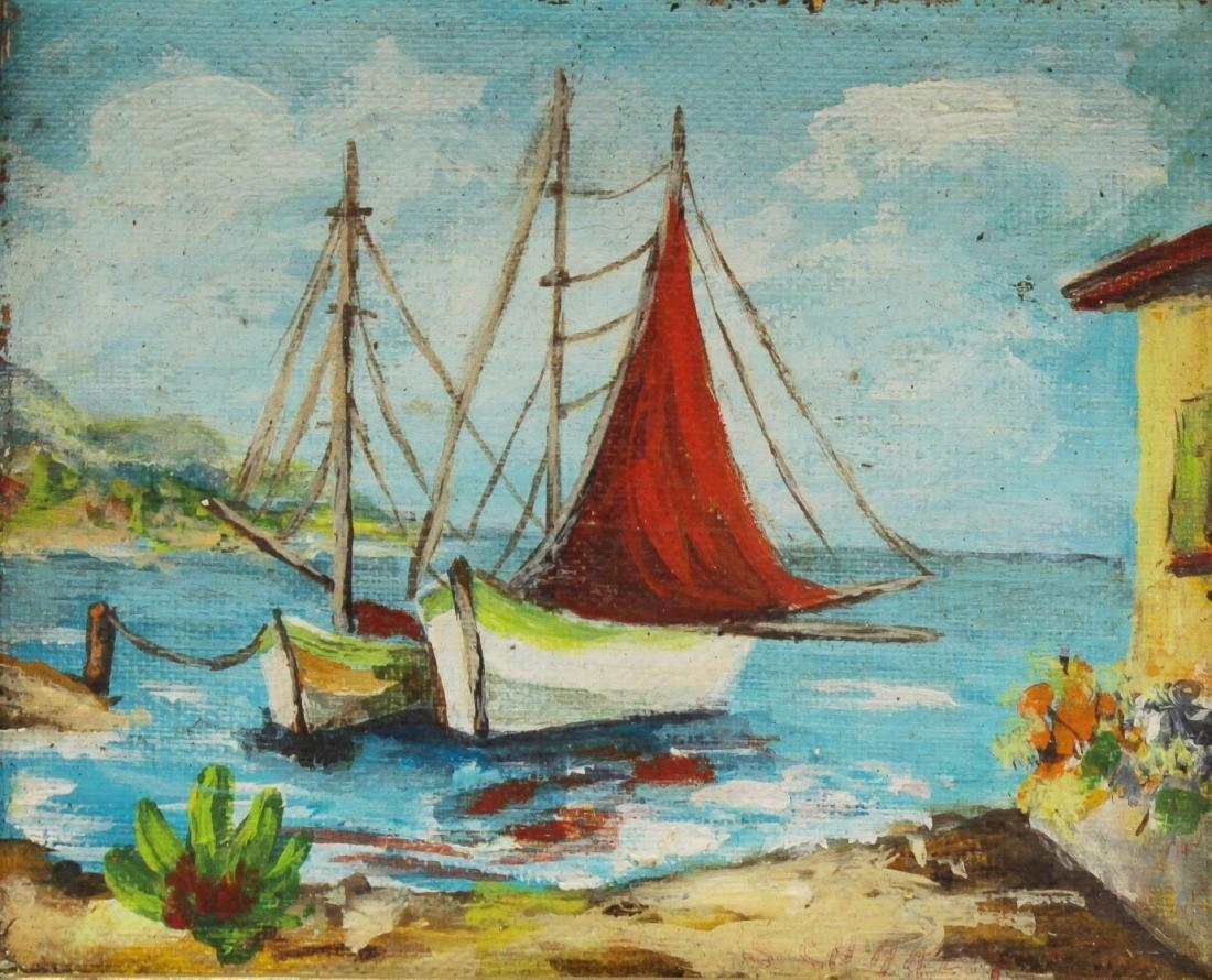 Illegibly Signed, Marine Landscape, Oil