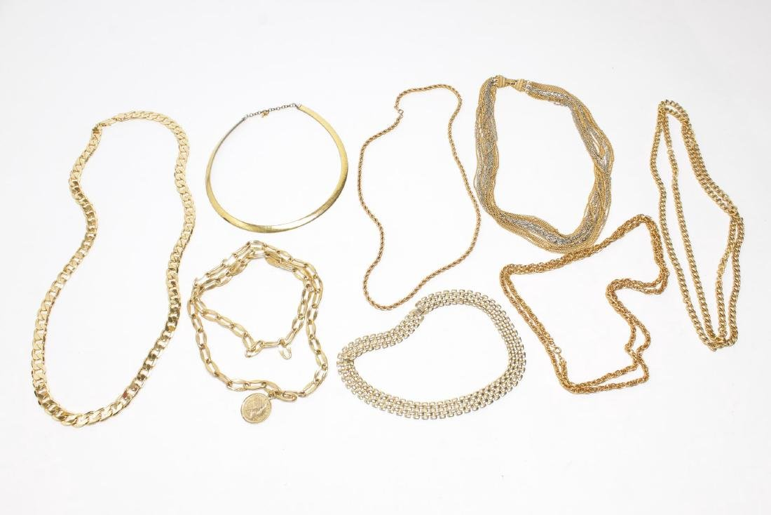 Vintage Costume Chain Necklaces, Gold-Tone