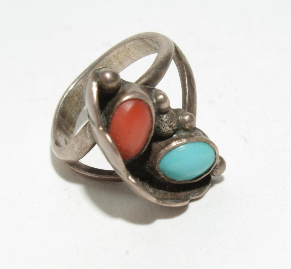 Native American Silver & Turquoise & Fetish Rings - 4