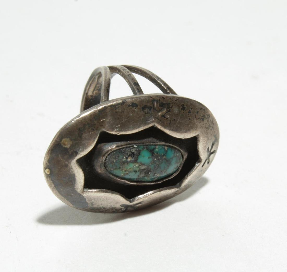 Native American Silver & Turquoise & Fetish Rings - 6