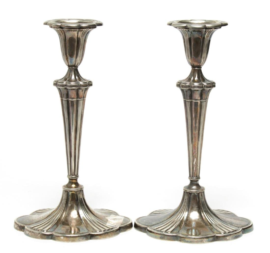 Antique Gorham Electroplated Candlesticks, Pair