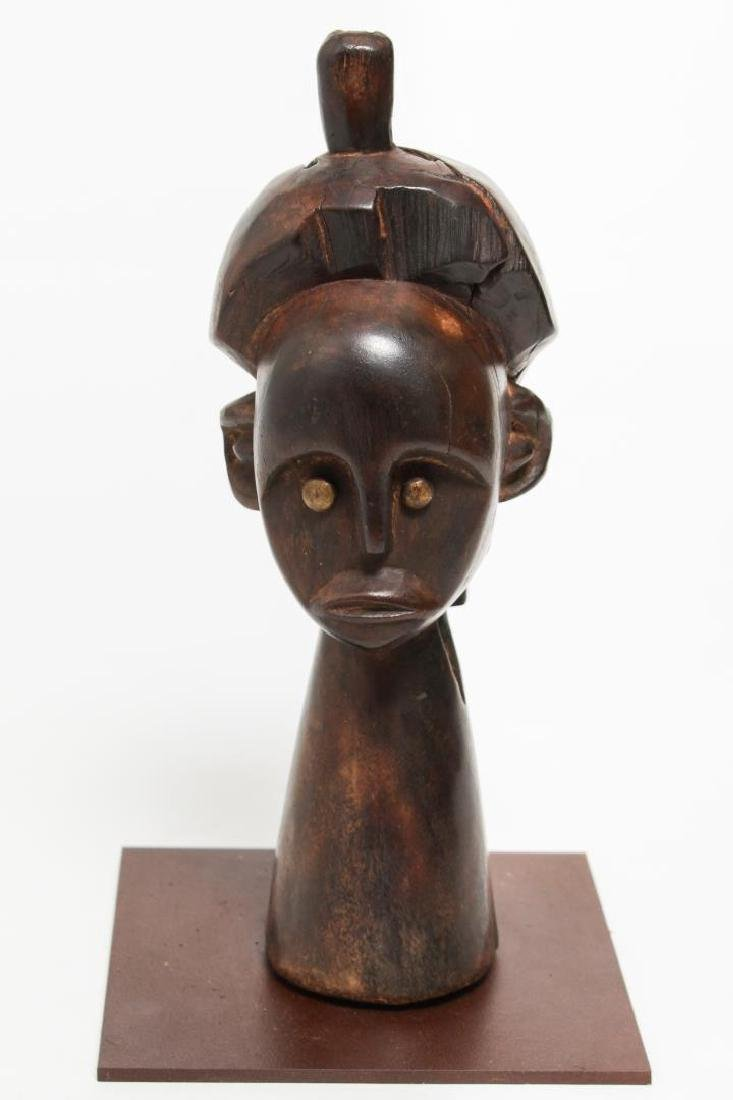 African Tribal Carved Hardwood Head of a Man